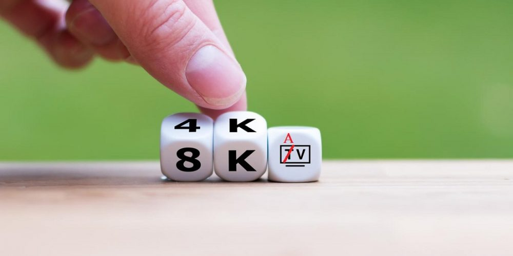 Dice symbolize the resolution of modern TV