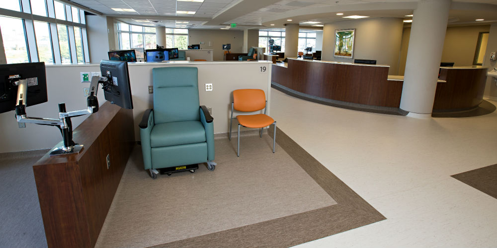 St. Bernards Cancer Center Custom AV Platform, slide 3