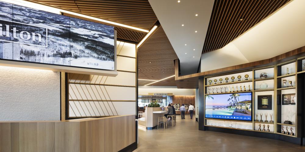 """Hilton Headquarters AV Redesign """"The Social"""", slide 0"""