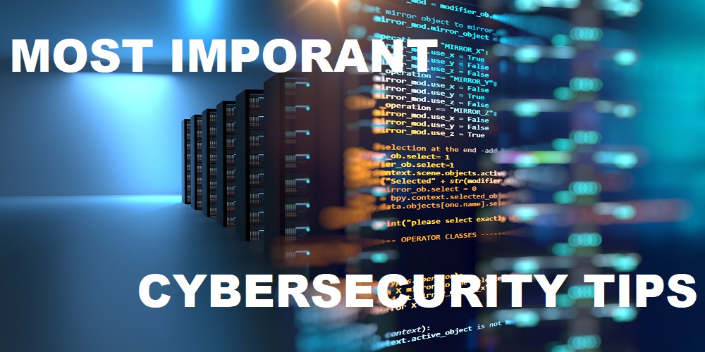 most important cybersecurity training tips