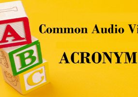 corporate AV, AV equipment purchase, audio visual acronyms