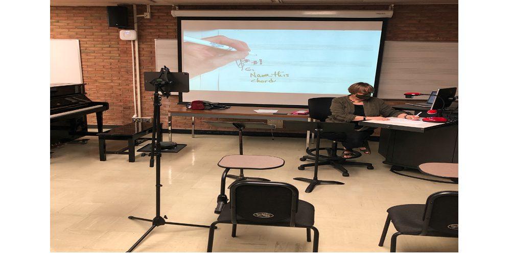 virtual classroom setup