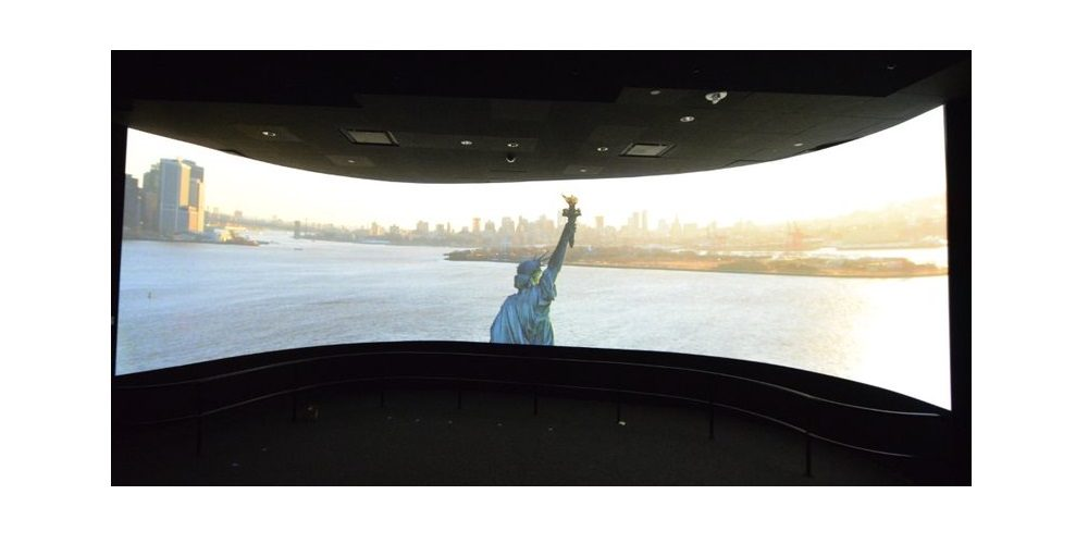 statue of liberty museum digital signage