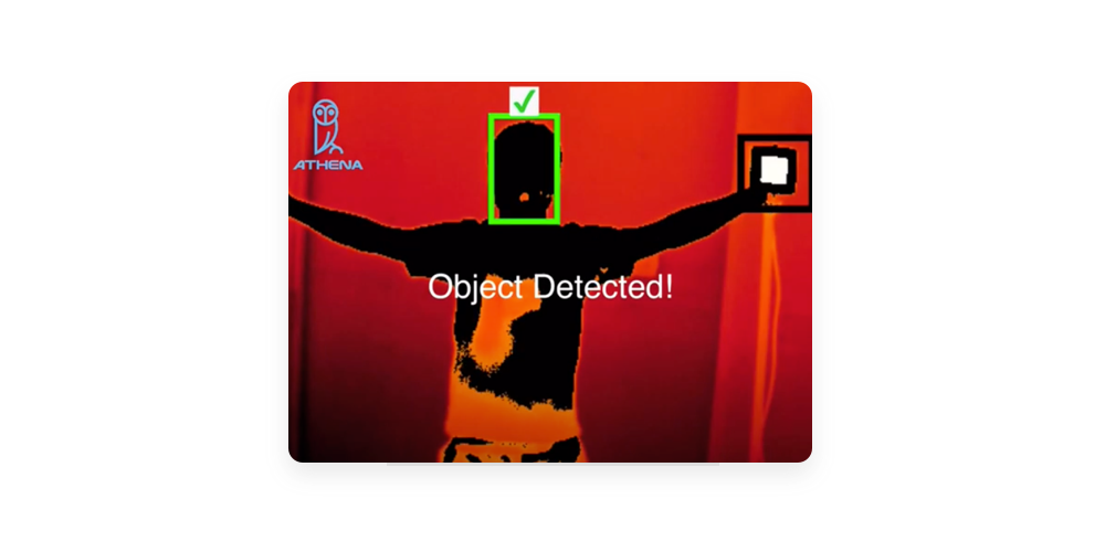 Athena occupancy tracking solution, dual concealed gun detection solution