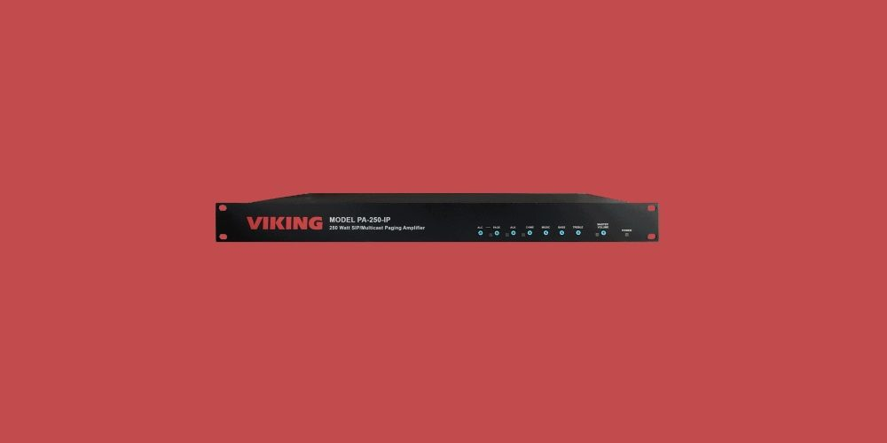Viking Electronics PA-250-IP SIP/Multicast IP Amplifier provides loud VoIP phone systems