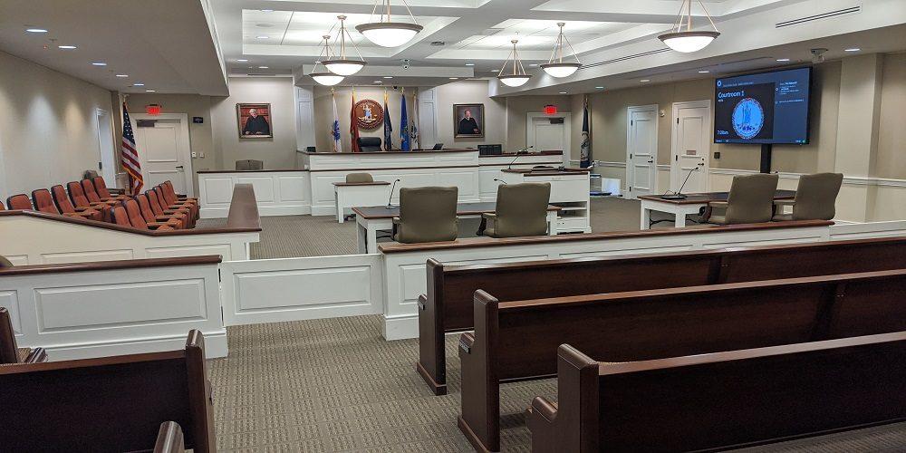 courthouse AV system, Utelogy system
